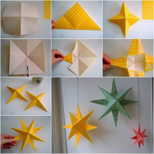 How To Make Simple Paper Star Home Decor DIY Tag