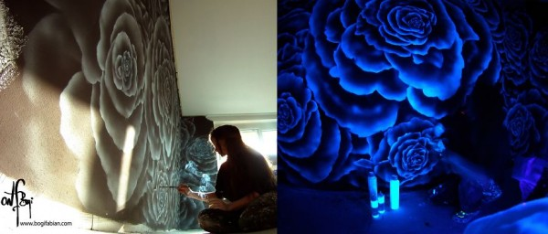 Wonderful Glow In The Dark Room Painting When lights go