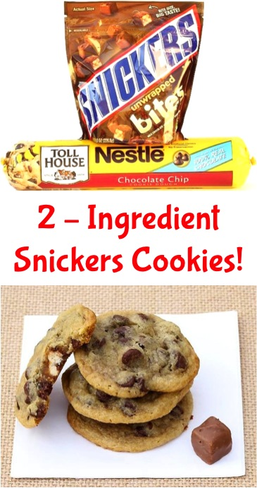 Snickers Cookies 2 Ingredients