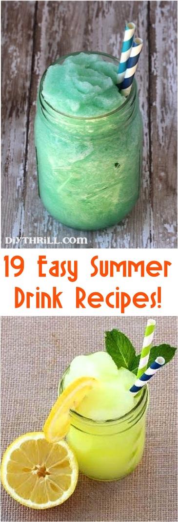 19 Easy Summer drinks