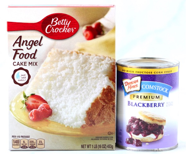 Blackberry Angel Food Cake