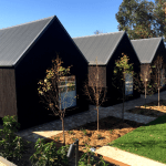"Hurford's Shou Sugi Ban - THE SIR GEORGE | 8 Accommodation Cabins ""The Barns"" in Jugiong, NSW"