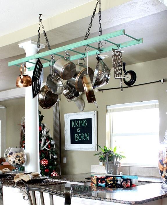 Kitchen Storage Ideas How To Make Your Own Pot Rack