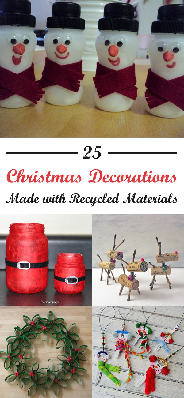 Christmas Decorations Made From Recycled Items
