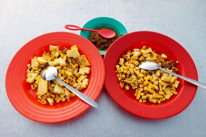 Grilled corn at Kupang Beach