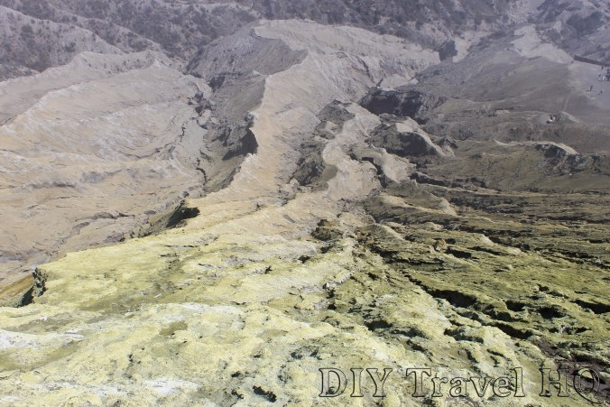 The sulphuric crater landscape on Mount Bromo
