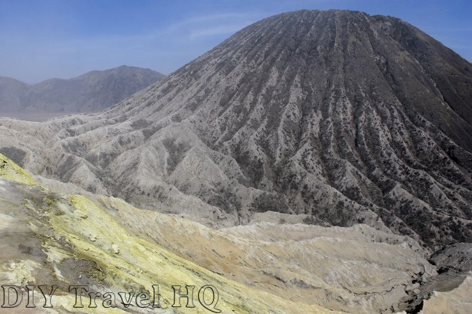 Bizarre crater landscape views Mount Bromo