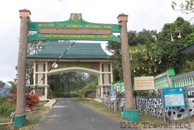 Mt Kelimutu National Park Entrance