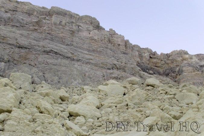 Mars crater landscape of Mt Ijen