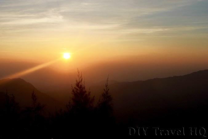 Bromo sunrise between Viewpoint 1 & 2