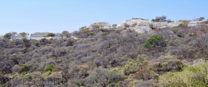 View of Xochicalco from entrance