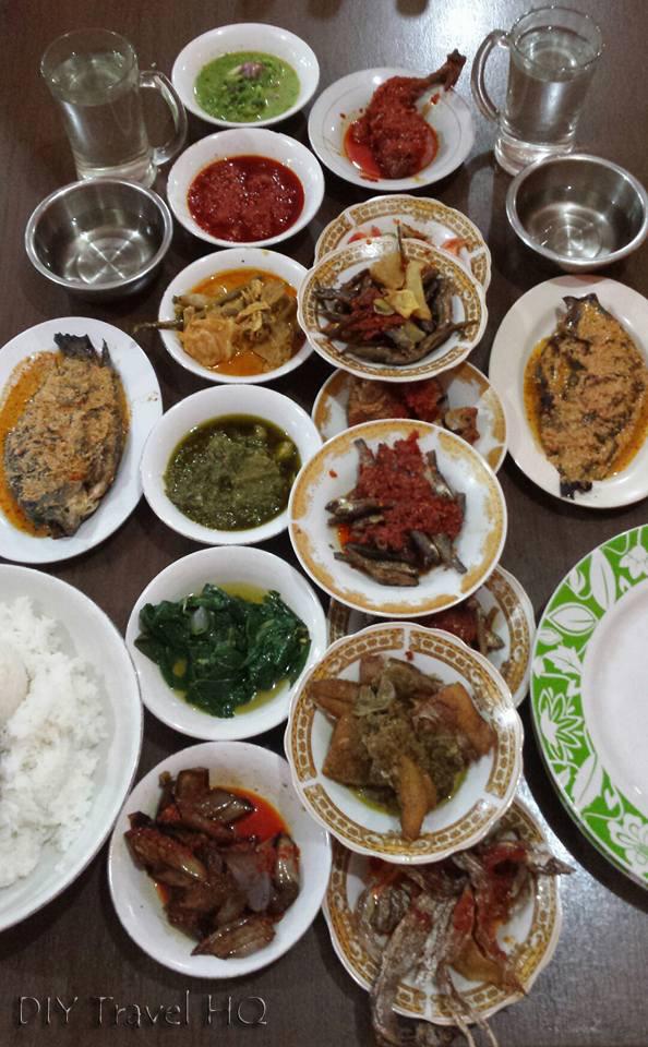 Little Dishes of Padang Food in Bukittinggi