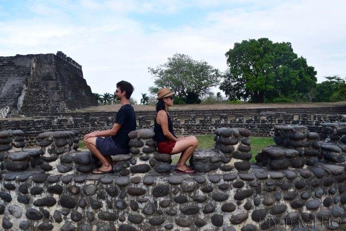 Cempoala El Templo Circular Stepped Pillar Structure