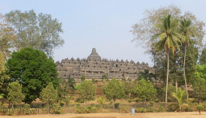 Borobudur Hidden Amongst Trees