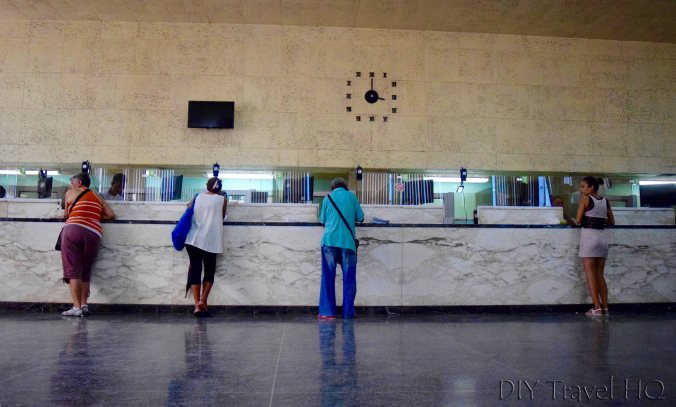 Cuba's Dual Currency Bank Interior