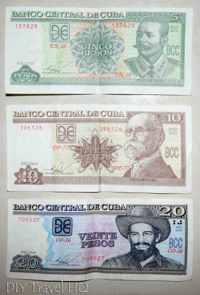 Examples of CUP Currency in Cuba