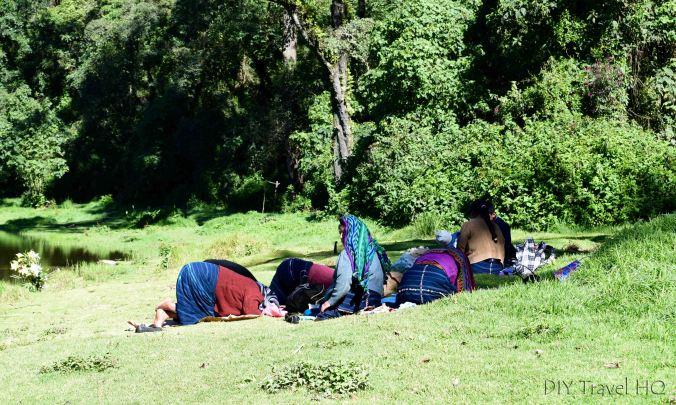 Laguna Chicabal Guatemalan Mayans Praying