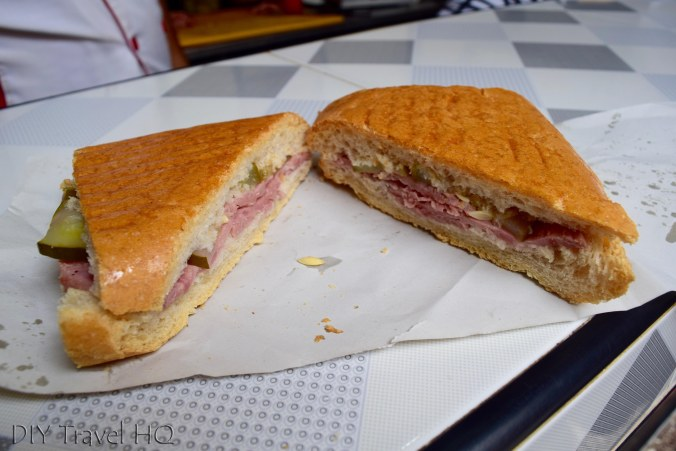 Toasted sandwich in Old Havana