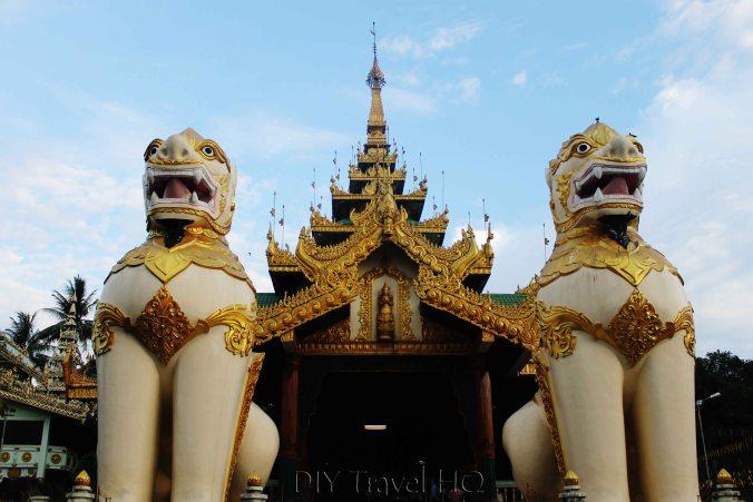 Burmese Lions at Shwedagon