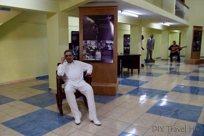 Gabriel Garcia Marquez in wax museum