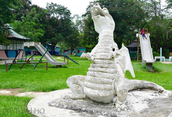Concrete playground in Parque Chapuzon