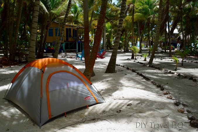 Camping on Glovers Atoll