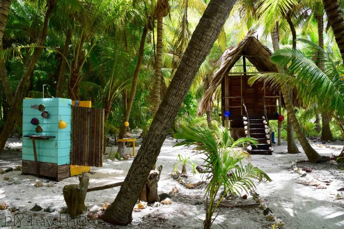 Shower & toilet on Glovers Atoll