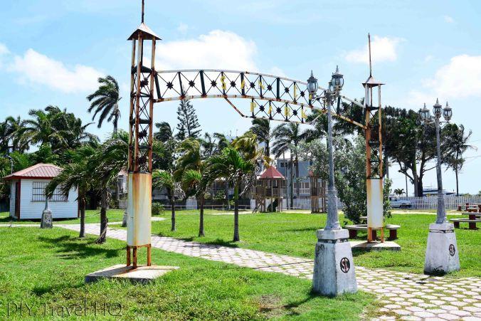 Memorial Park opposite Baron Bliss Tomn