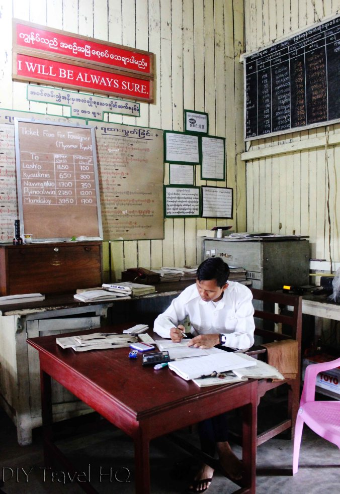 Ticket office in Hsipaw train station