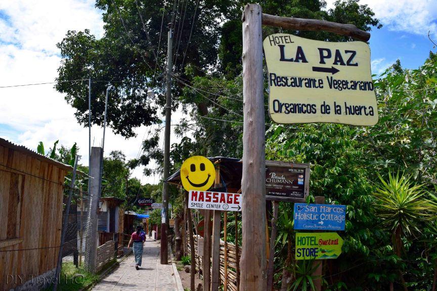 San Marcos La Laguna Business Signs