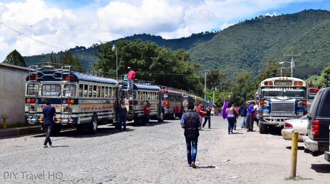 Antigua Chicken Bus Terminal to Guatemala City