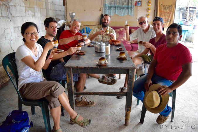 Drinking De la Gente Guatemalan coffee