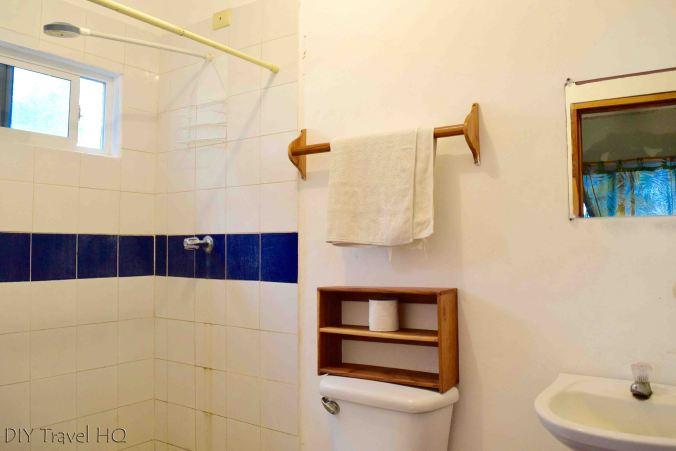 Bathroom at Hostal Los Almendros