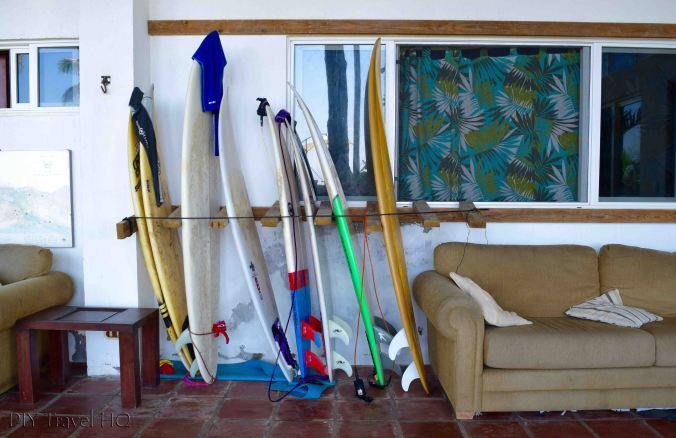 Rent surfboards at Hostal Los Almendros