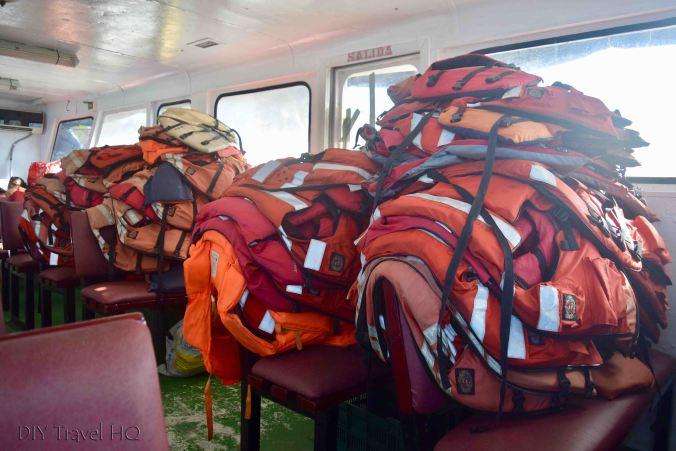 Bluefields to Big Corn Island Ferry Life Jackets & Interior Seats