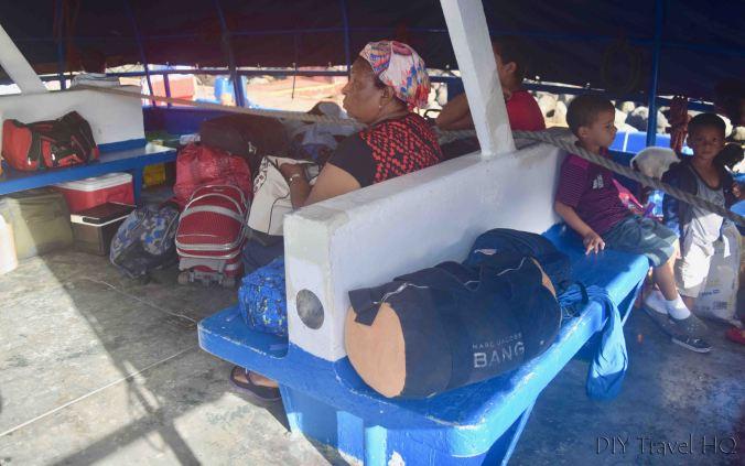 Bluefields to Big Corn Island Rio Escondido Ferry Luggage & Seats