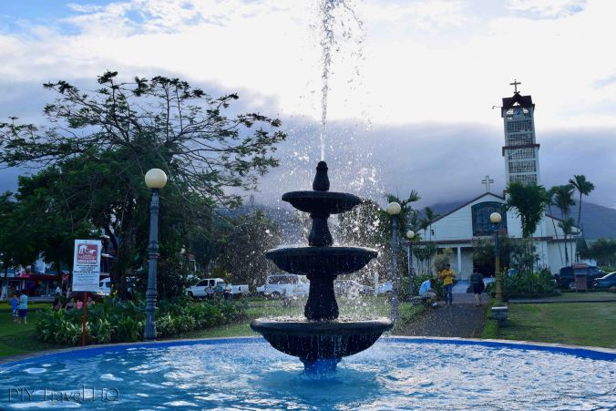 Main plaza La Fortuna
