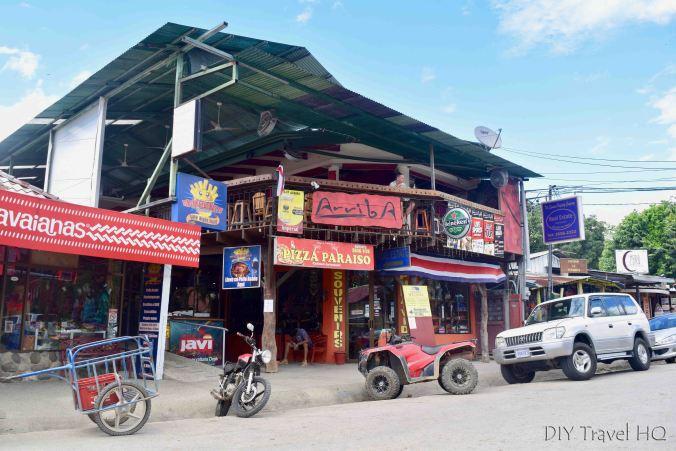 Main street Playa Samara