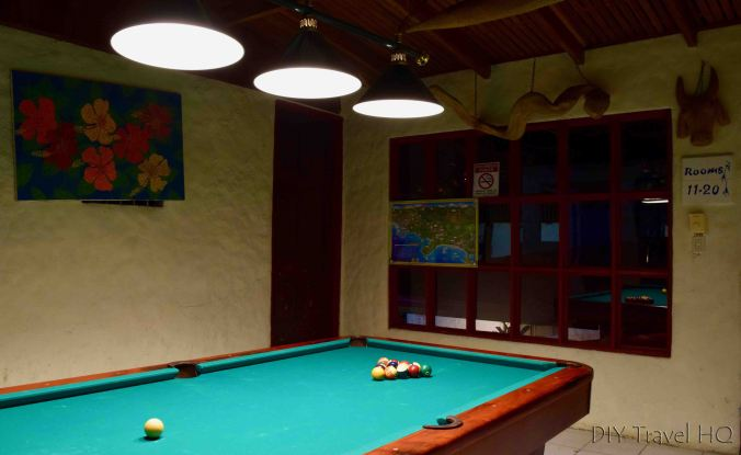 Billards room Hotel Mono Azul