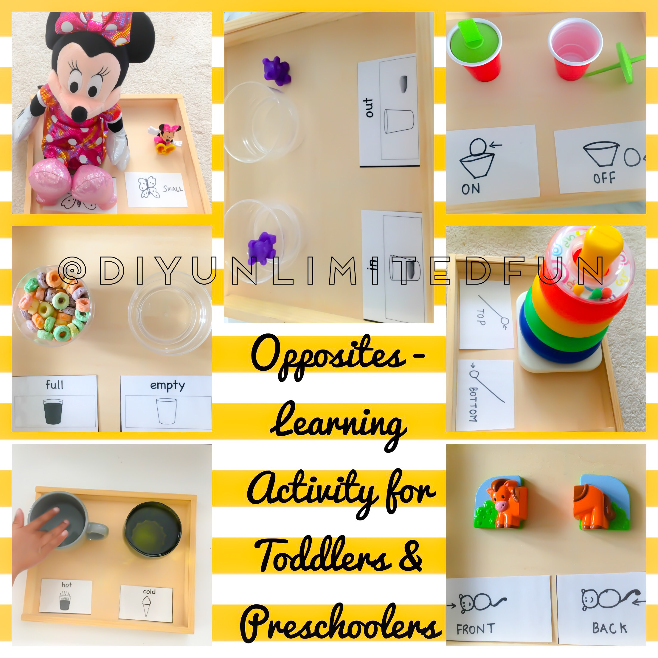 Opposites Learning Activity For Toddlers Amp Preschoolers
