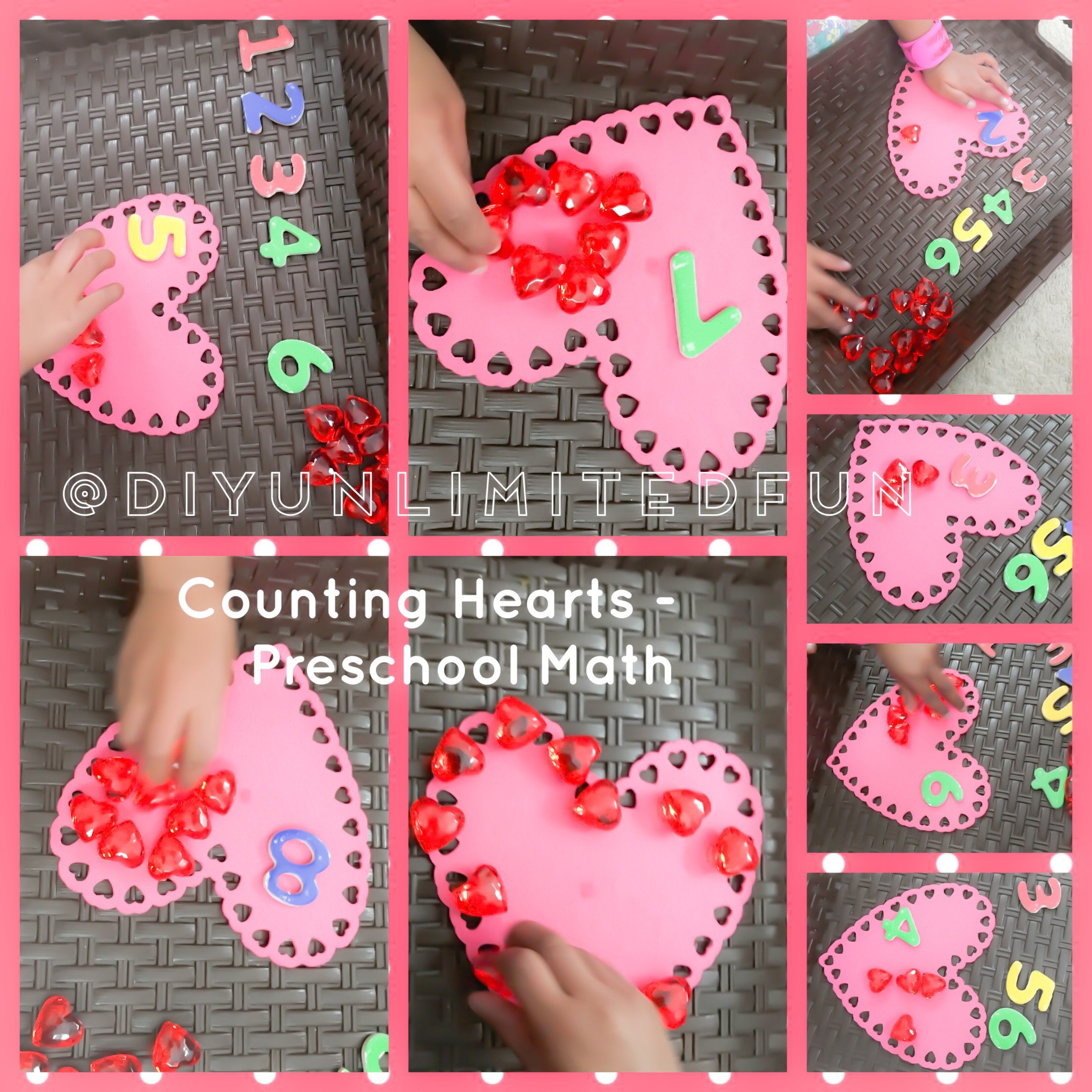 Counting Hearts Valentines Day Math Simple Diys Kids Activities