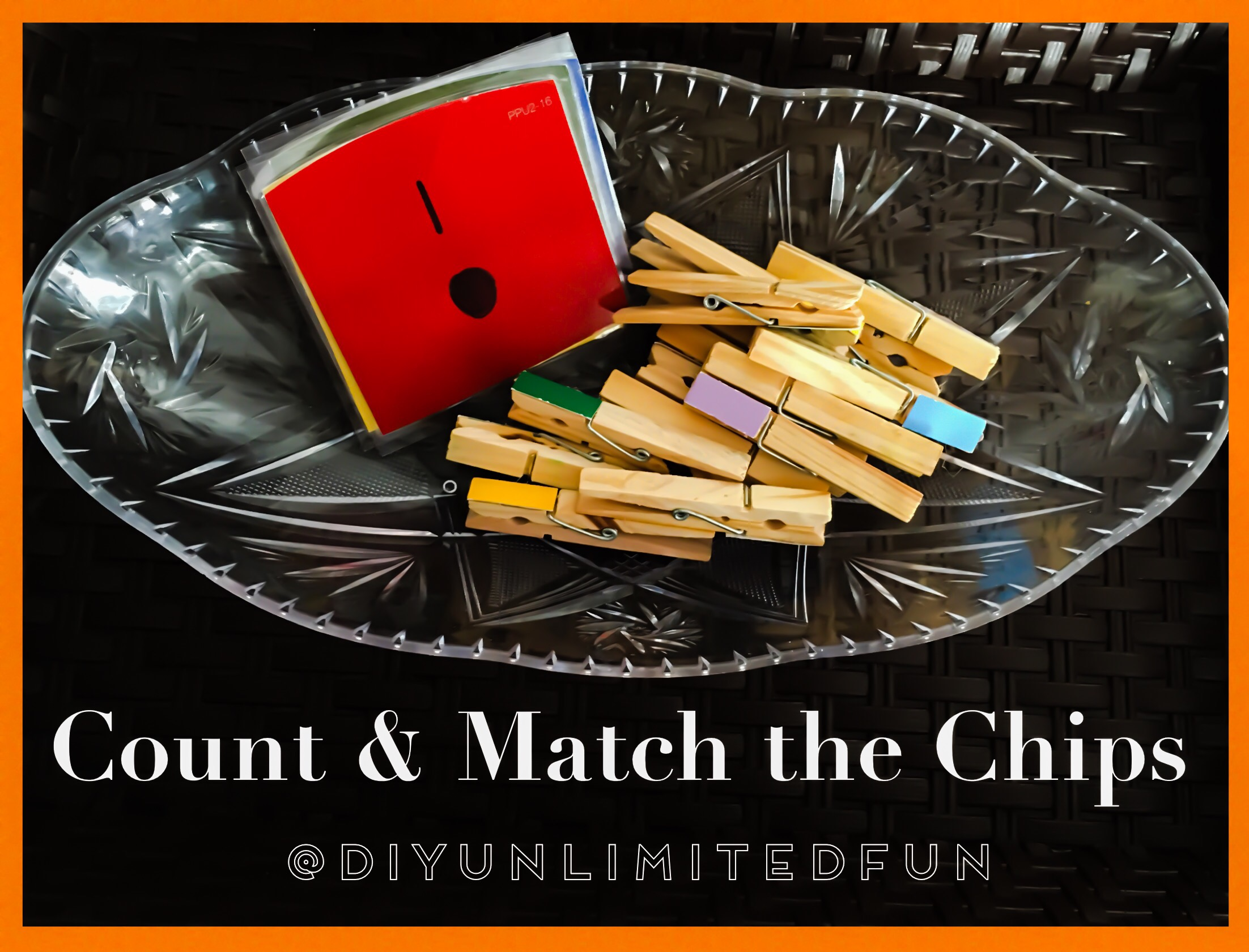 Count Amp Match The Chips Color Gra Nt Math Activity