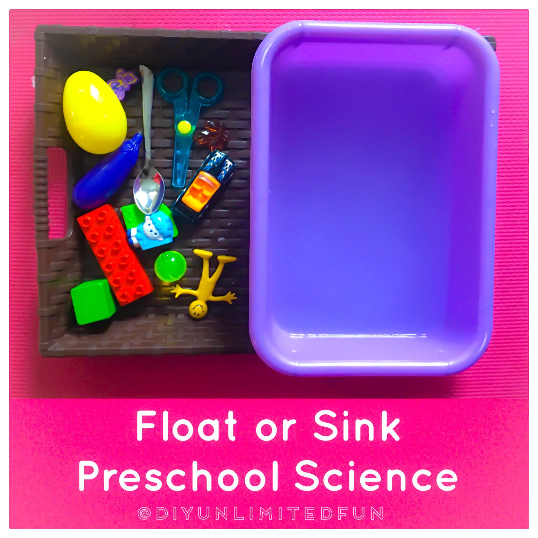 Sink Or Float Preschool Science Simple Diys Kids