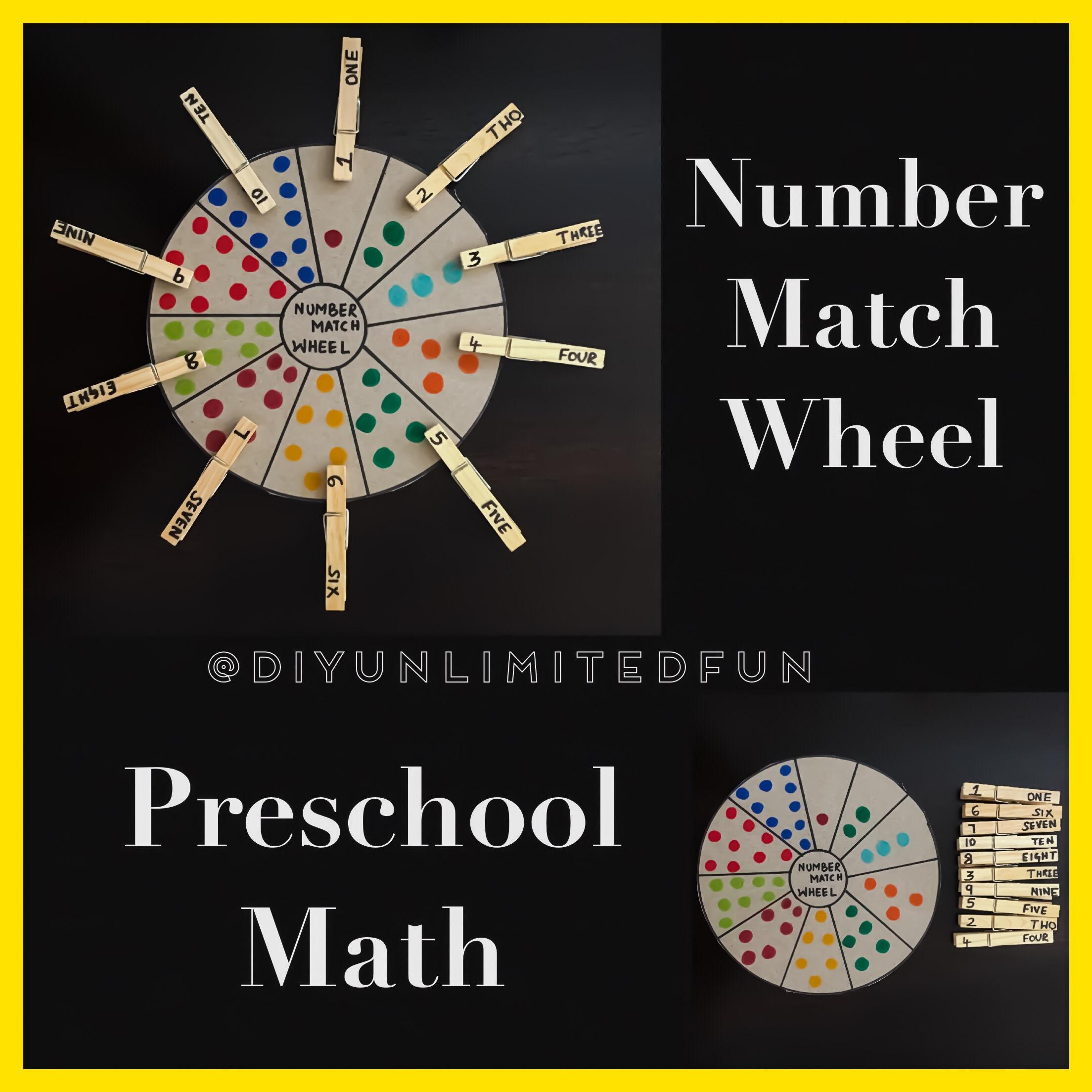 Number Match Wheel Preschool Math Simple Diys Kids Activities