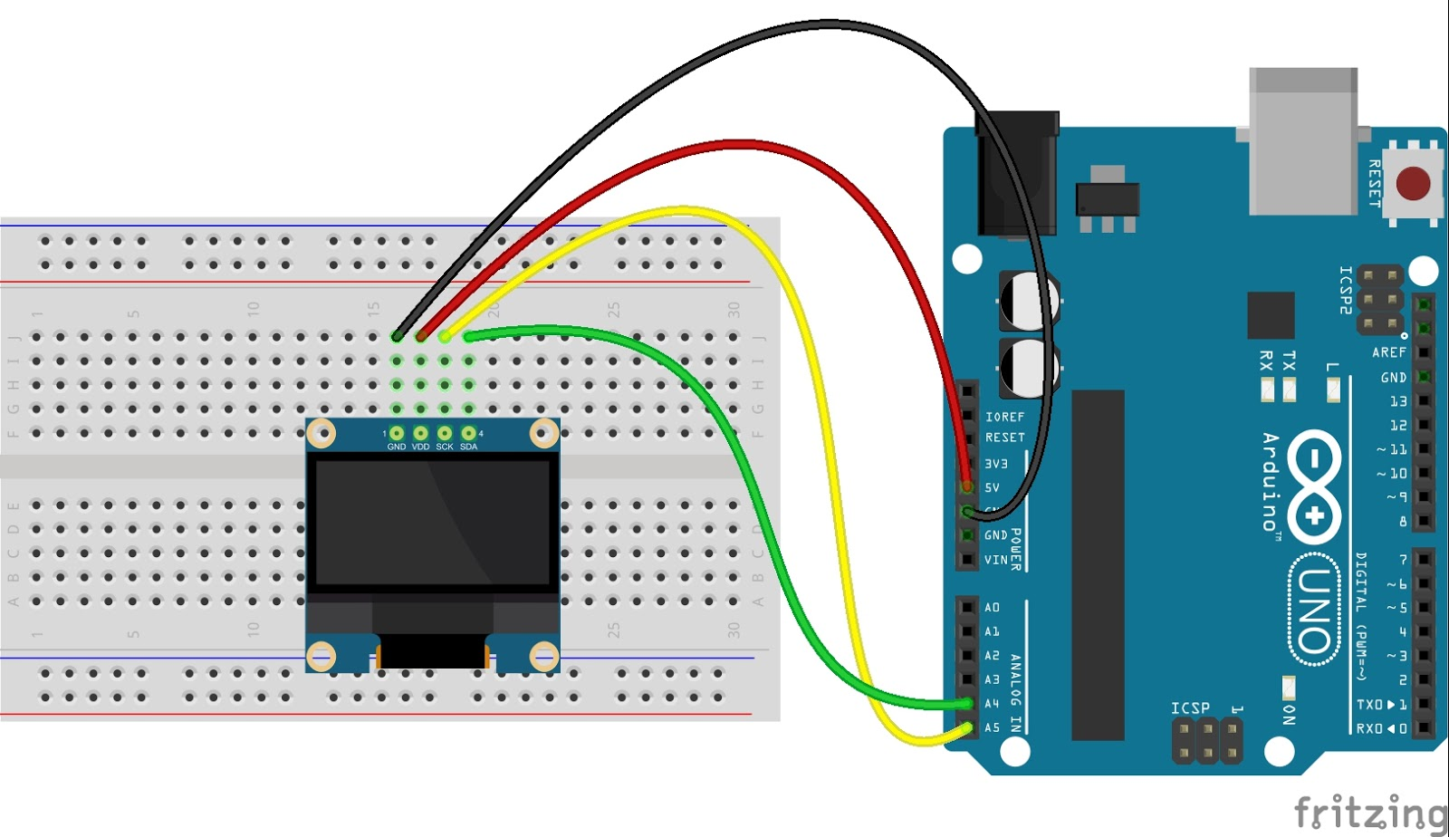 Interfacing OLED 128×64 I2C with Arduino Uno