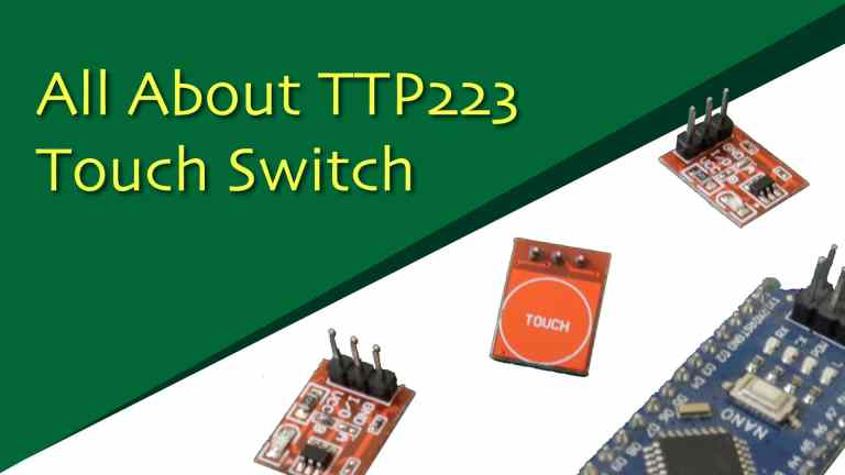 How to use a TTP223 based touch switch