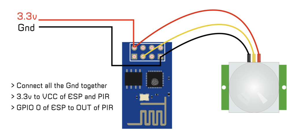 IoT Motion Sensor - ESP 01 + PIR » DIY Usthad on