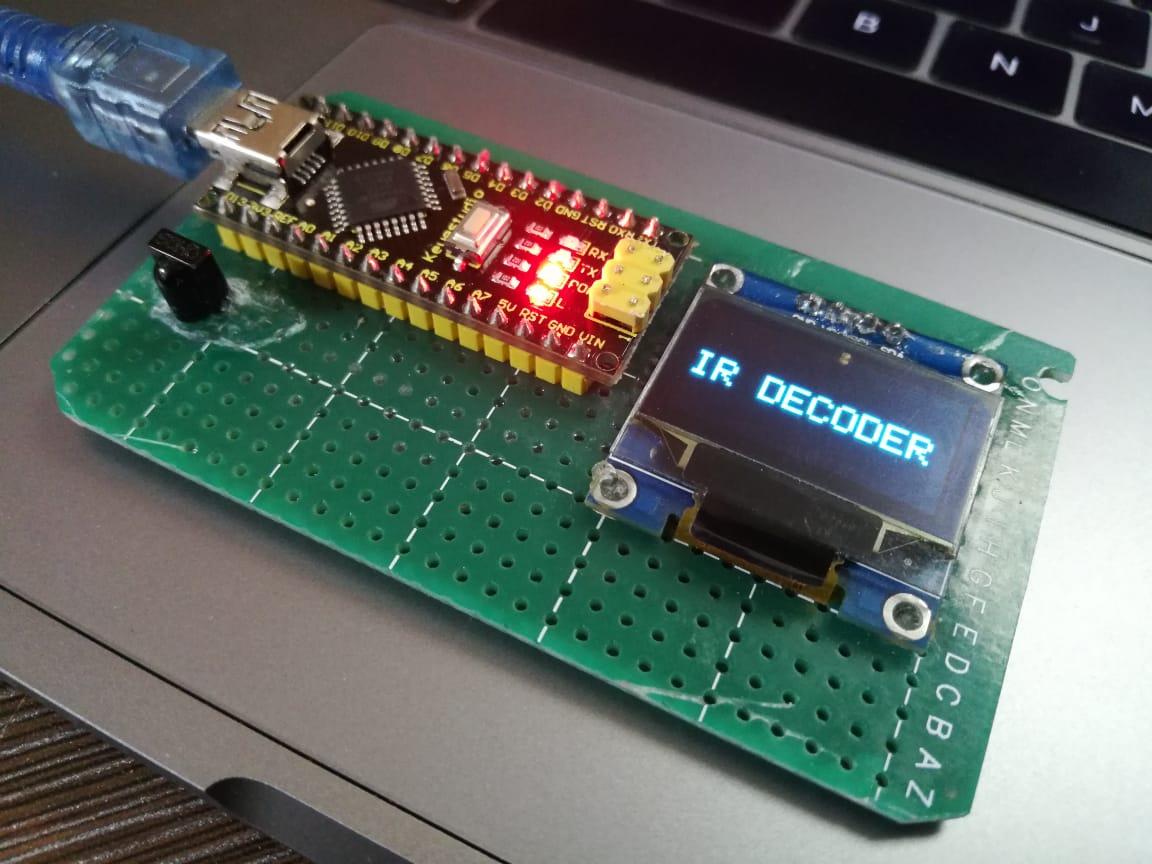 IR Remote Decoder With OLED Display