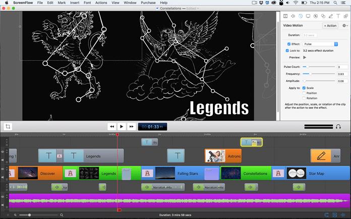 ScreenFlow user interface image