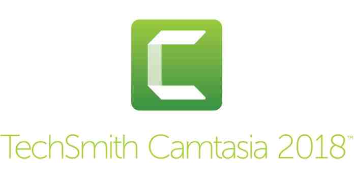 Logo image for Techsmith Camtasia 2018 screen recording software.